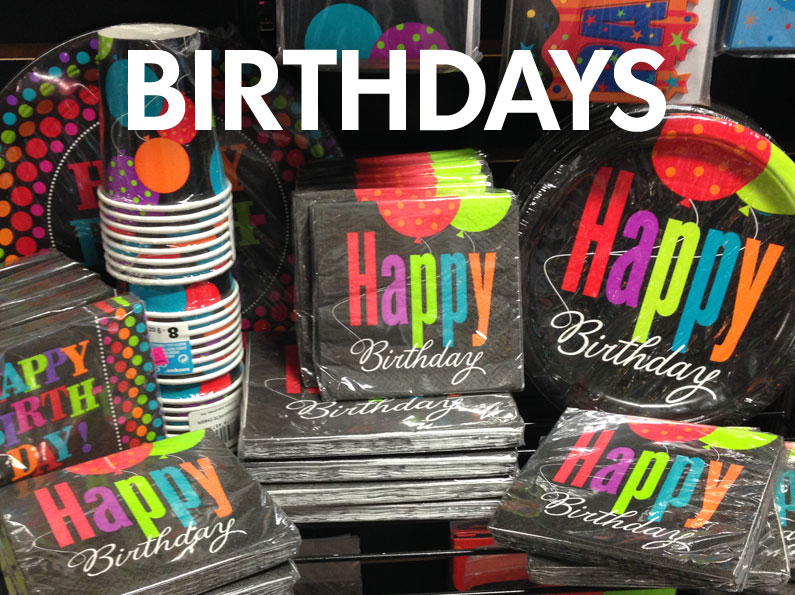 Click for Birthday Store Items