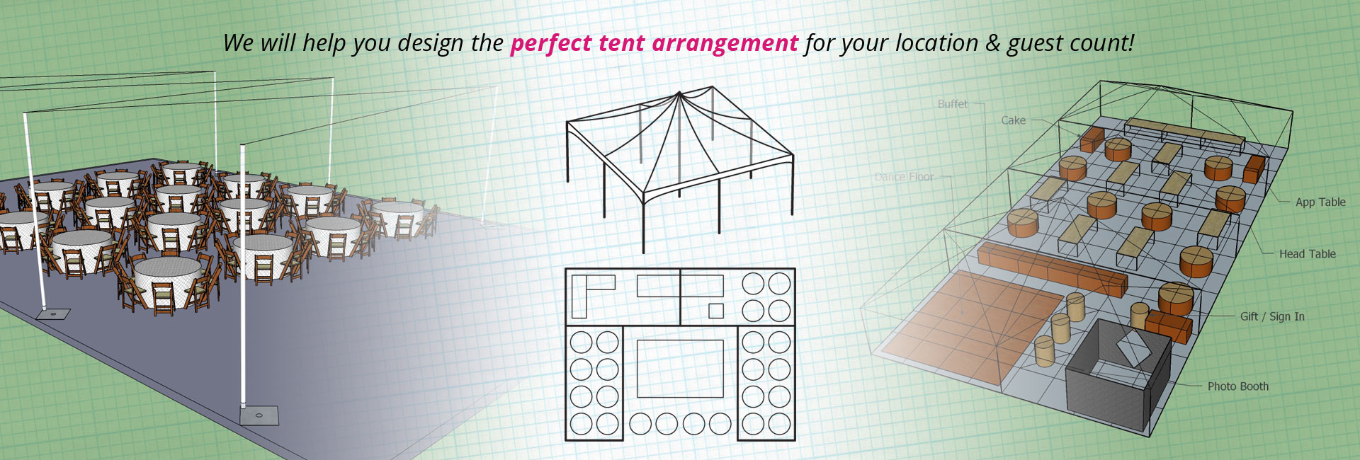rental tent setup options
